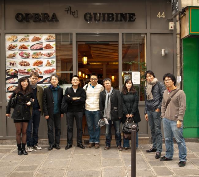 2011.10.30 - Repas Mensuel d'octobre de Racines Coréennes au Guibine Opéra 귀번 - The photo de groupe