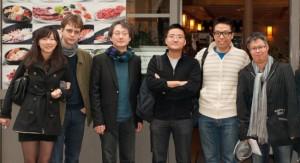 2011.10.30 - Repas Mensuel d'octobre de Racines Coréennes au Guibine Opéra 귀번 - Détail photo de groupe 1/2