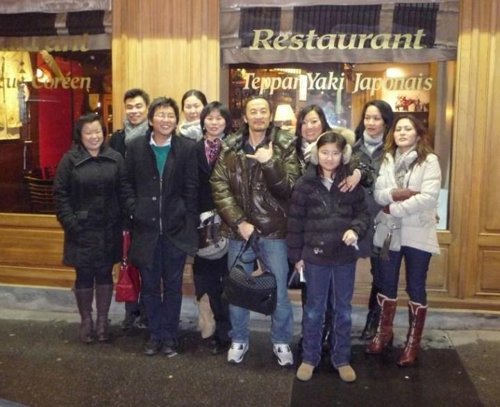 Photo du groupe à lyon 19 janv