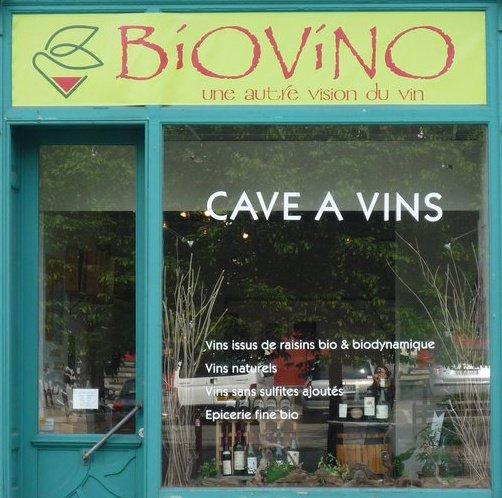 Facade boutique Biovino Lille