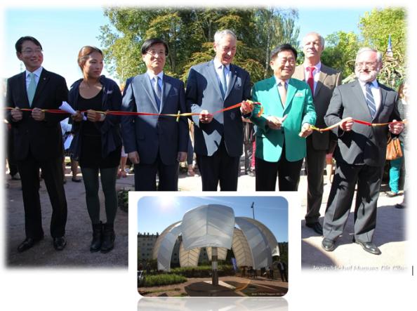Photo Inauguration Jardin coréen de Lons Le Saunier