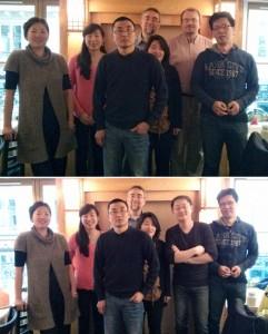 Photo du repas d'avril 2014 à Paris de Racines coréennes