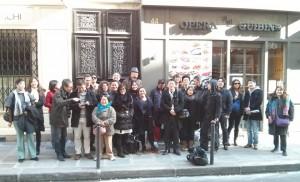 Photo de groupe du déjeuner mensuel parisien de Racines coréennes de février 2014