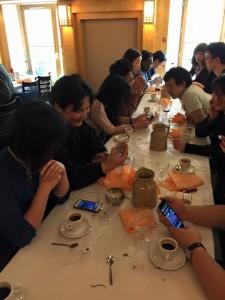 Photo du déjeuner mensuel parisien de Racines coréennes de février 2015 1