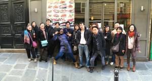 Photo du déjeuner mensuel parisien de Racines coréennes de février 2015 9