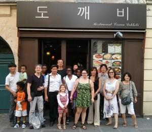 Photo du déjeuner parisien de la mi-été de Racines coréennes juillet 2014 7