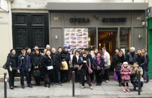 Photo du groupe du déjeuner mensuel paris mars 2015