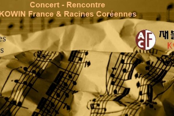Concert / rencontre avec l'association de femmes Coréennes (KOWIN France) et Racines Coréennes