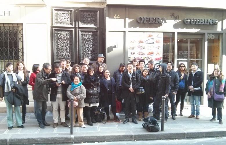 Photos du déjeuner apres l'AG de Racines coréenne en février 2014