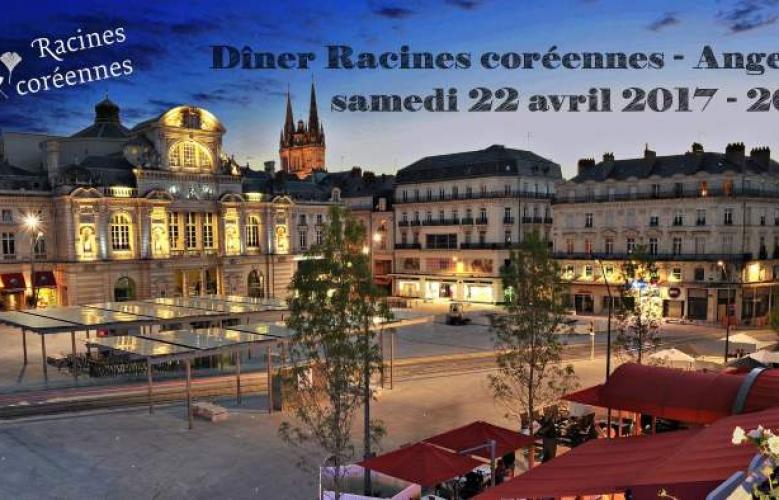 Dîner Racines coréennes à Angers, samedi 22 avril 2017