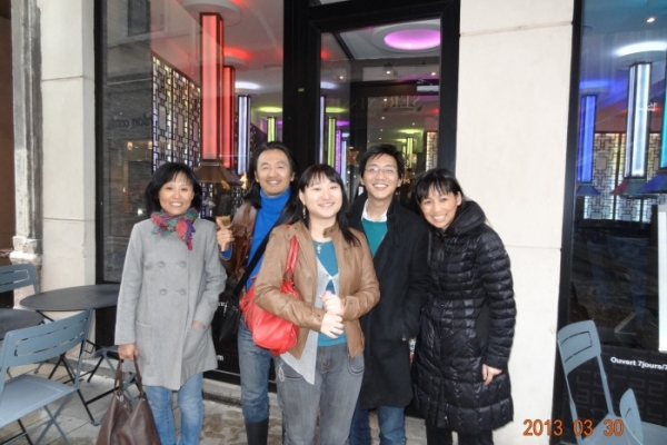 Photo du dîner à Lyon, le samedi 30 mars 2013