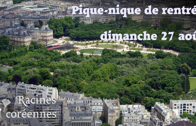 Pique-nique de rentrée de Racines coréennes à Paris, dimanche 27 août 2017