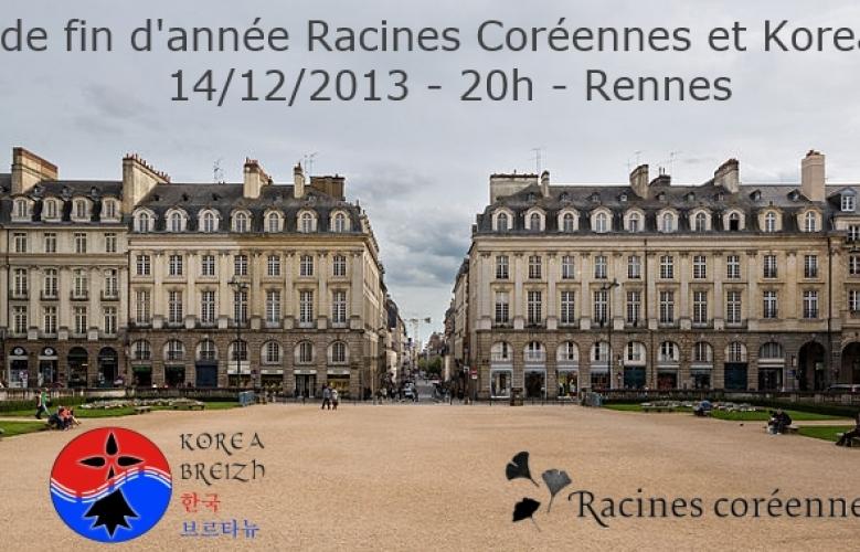 Dîner de fin d'année Racines Coréennes et Korea Breizh, Samedi 14 décembre 2013
