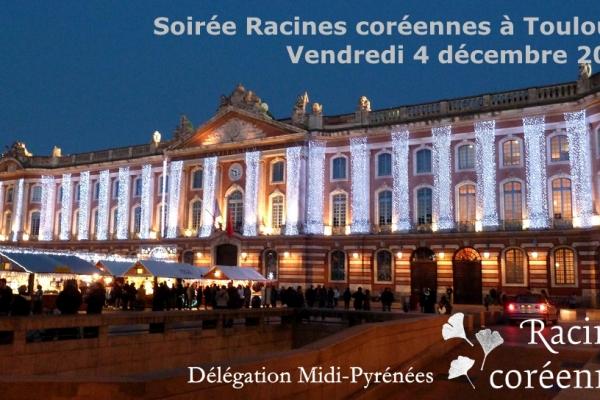 Soirée de fin d'année de Racines coréennes à Toulouse | 4 déc 2015